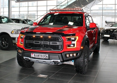 FORD F150 RAPTOR световая балка RIGID 40 c GPS, в бампере три пары